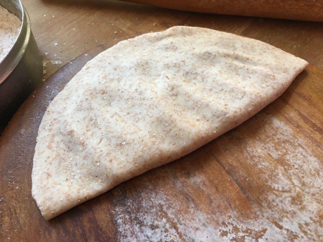 Folding chapati