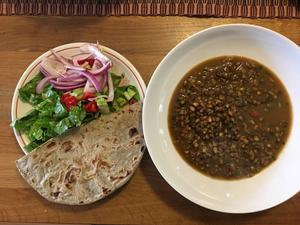Rotal with a dhal curry