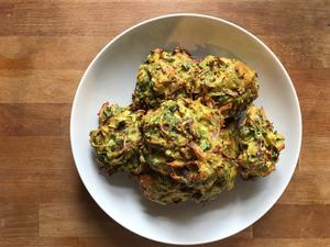 Baked bhajis
